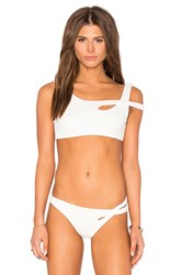 Skye And Staghorn Cross Bikini Top White
