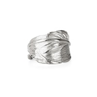 Chupi Swan Feather Ring Silver