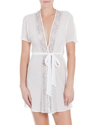 In Bloom Yoryu Textured Chiffon Wrap Robe White