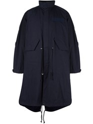 Sacai Layered Puffer Parka Blue