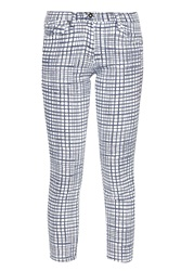Great Plains Yoyo Check Cropped Jeans Multi Coloured