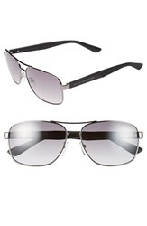Men's Marc By Marc Jacobs 59Mm Navigator Sunglasses Dark Ruthenium Grey Gradient