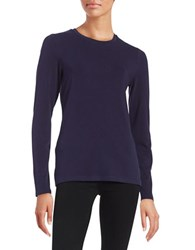 Lord And Taylor Compact Tee Evening Blue