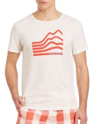 Solid And Striped Surfing Is Scary' Graphic Tee Cream Red