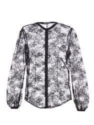 Alexander Mcqueen Chantilly Lace Long Sleeved Blouse