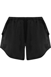 Y 3 Stretch Sateen Jersey Shorts Black