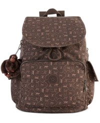 Kipling Ravier Backpack Monkey Mania Brown
