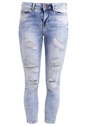 Noisy May Nmlucy Slim Fit Jeans Light Blue