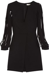 Halston Heritage Crepe Mini Dress Black