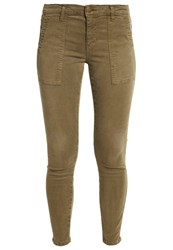 Current Elliott The Station Agent Slim Fit Jeans Army Green Khaki