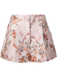 Stella Mccartney Floral Jacquard Shorts Pink And Purple