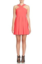 Cece Women's Stretch Fit And Flare Dress Ginger Pink