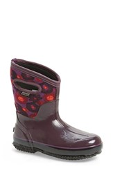 Women's Bogs 'Watercolor' Mid High Waterproof Snow Boot With Cutout Handles Plum Multi