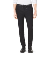 Michael Kors Wool And Cashmere Track Pants Black