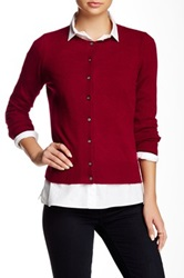 Philosophy Cashmere Cardigan Petite Red