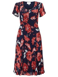 East English Rose Pleated Dress Ink