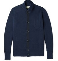 Oliver Spencer Pencer Merino Wool Cardigan Navy
