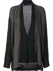 Isabel Benenato Draped Cardigan Green