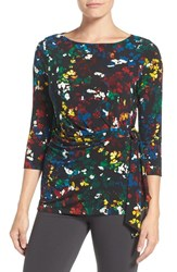 Chaus Women's Floral Print Side Tie Top
