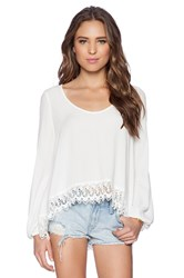 Lovers Friends Lovers Day Blouse White