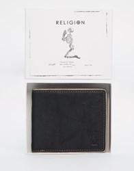 Religion Leather Wallet Black