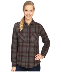 United By Blue Cayley Wool Plaid Grey Olive Women's Clothing Green