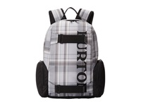 Burton Youth Emphasis Pack Impulse Plaid Backpack Bags Gray