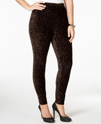 Styleandco. Style And Co. Plus Size Animal Printed Corduroy Stretch Leggings Only At Macy's