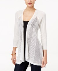 Styleandco. Style Co. Petite Open Front Cardigan Only At Macy's Winter White