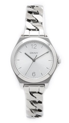 Dkny Parsons Three Hand Stainless Steel Watch Silver