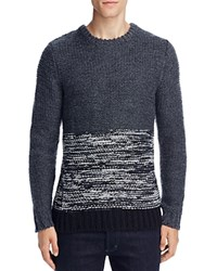 Native Youth Polar Knit Color Block Sweater Grey