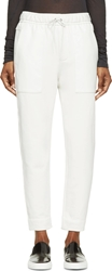 Helmut Lang Dove Grey Leather And Jersey Drift Lounge Pants
