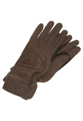 Jack Wolfskin Caribou Gloves Mocca Brown