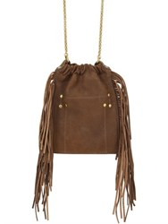 Jerome Dreyfuss Small Gary Embroidered Leather Bag