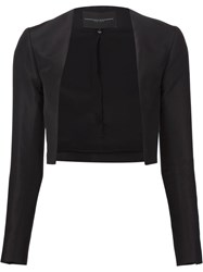 Carolina Herrera Classic Cropped Jacket Black