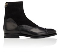 Barbanera Men's Ruskin Leather And Suede Boots Black