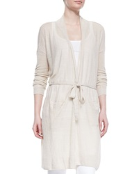 Vince Lightweight Knit Long Belted Cardigan