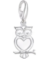 Giani Bernini Owl Charm In Sterling Silver