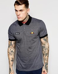 Ellesse Marl Polo Shirt Grey