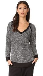 Bobi Tunic Sweater Black White