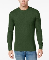Club Room Men's Big And Tall Jersey Cotton Long Sleeve T Shirt Only At Macy's Isle Of Pines Heather