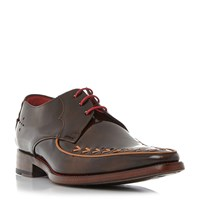 Jeffery West Shout Pointed Gibson Shoes Brown