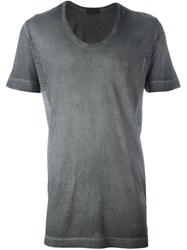 Diesel Black Gold Scoop Neck T Shirt Grey