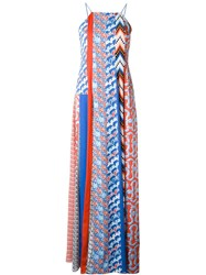 Kenzo Patchwork Houndstooth Long Dress Multicolour