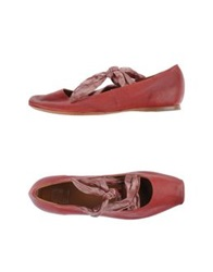 Strategia Ballet Flats Brick Red