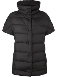 Eleventy Short Sleeve Padded Jacket Black