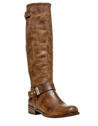 Steve Madden Ryley Distressed Leather Boots Brown