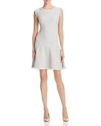 Rebecca Taylor Metallic Weave Tweed Dress Grey