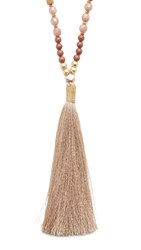 Nakamol Coco Tassel Necklace Nude Mix