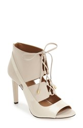 Calvin Klein Women's 'Narea' Ghillie Peep Toe Pump Ivory Leather